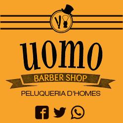 logo uomo peluqueria barberia d'homes