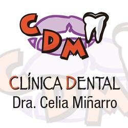 logo cdm clinica dental dra. celia miÑarro