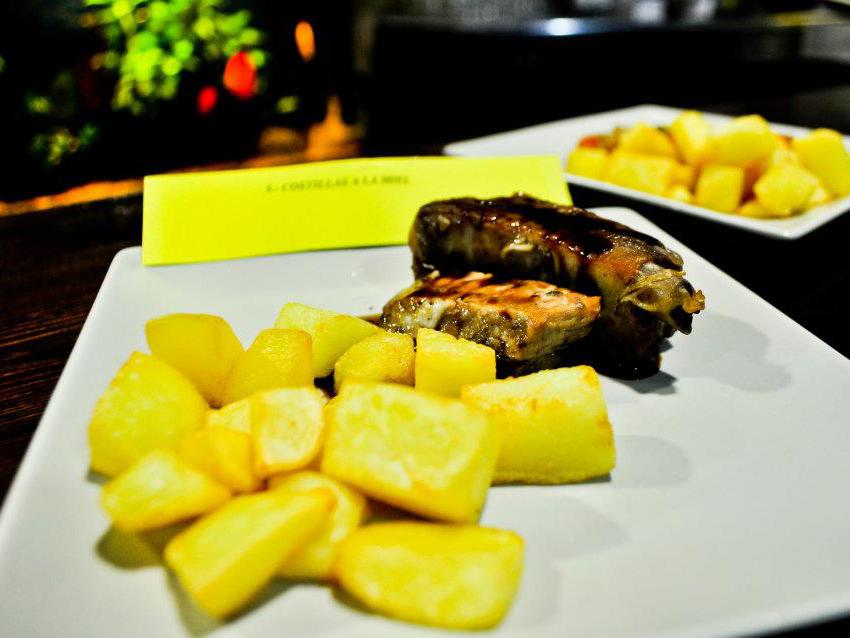Comida restaurante Bariloche A