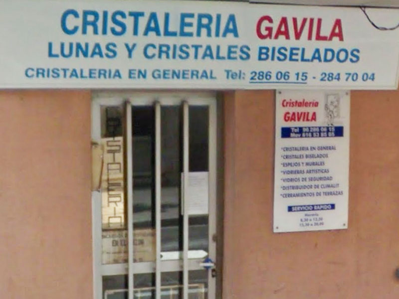 Fachada Cristaleria Gavila