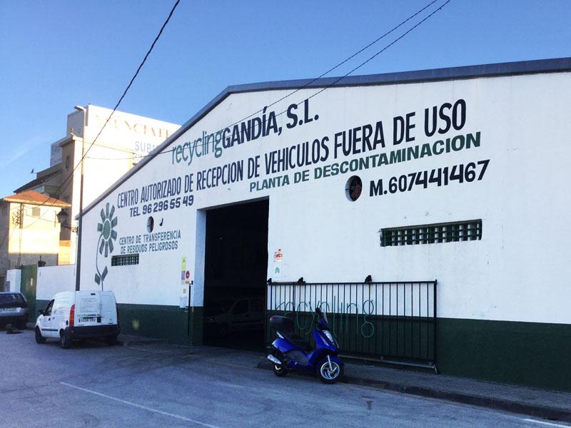 Fachada de Recycling Gandia